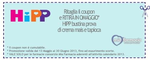 Schermata 2013 06 02 a 23.14.37 - Buono sconto da stampare Mia Farmacia per Pappa Hipp in Omaggio