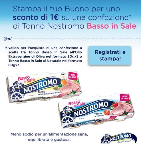 Buono sconto da stampare tonno nostromo coupon da for Buoni coupon