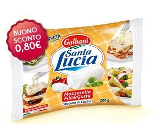 Coupon Galbani - Mozzarella Fila e Gusta Santa Lucia