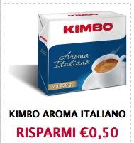 Buoni sconto caffè Kimbo aroma italiano