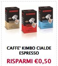 Buoni sconto caffè Kimbo cialde espresso