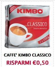 Buoni sconto caffè Kimbo classico
