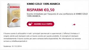 Buono sconto caffè Kimbo, stampa i coupon!