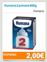 Coupon Humana latte - Coupon Humana latte in polvere