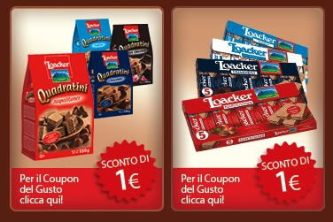 Loacker 2 nuovi buoni sconto da 1 euro