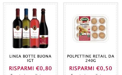 Buoni sconto vino linea Botte Nuova