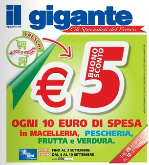 Coupon spesa Il Gigante