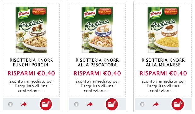 Buoni sconto Knorr