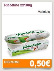 Buono sconto ricottine Vallelata - Coupon ricottine Vallelata