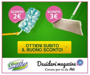 Buoni sconto Swiffer su Desideri Magazine