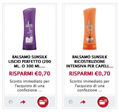 Buoni sconto shampoo Sunsilk