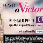 Buono sconto Max Factor con Victoria50