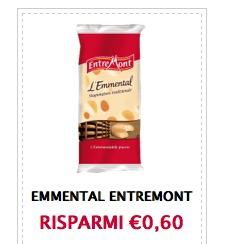 Buono sconto formaggio Emmental Entremont