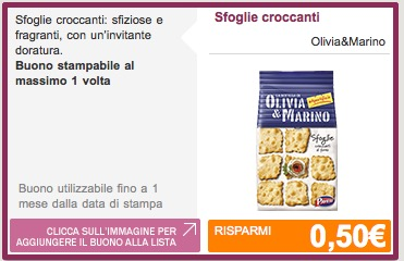 Coupon Olivia e Marino
