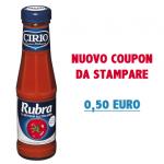 Salsa Rubra Cirio nuovo coupon Buonpertutti