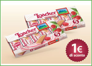 Coupon Loacker al lampone e yogurt