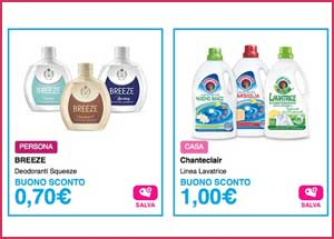 Buoni sconto Zendium, Chanteclair, Breeze e Dove