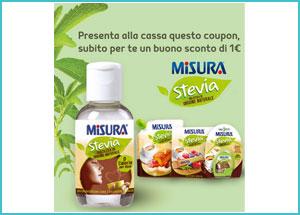 Misura Stevia, buono sconto 1 euro