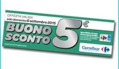 Buono sconto Carrefour di Settembre