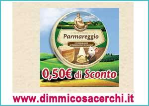Buono sconto formaggini Parmareggio