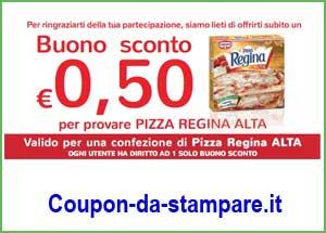 Buono sconto pizza Regina Alta di Cameo