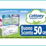 Buono sconto Cottony assorbenti da Carrefour