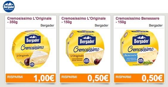 Buoni sconto formaggio Bergader