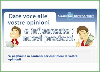 Guadagna con Global Test Market