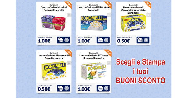 Coupon Bonomelli da stampare