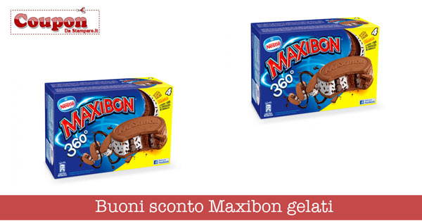 Buoni sconto Maxibon gelati