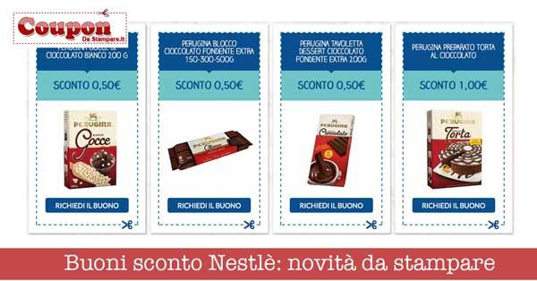 Buoni sconto Nestlè: novità da stampare