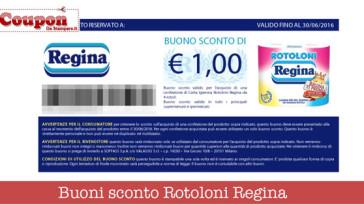 Rotoloni Regina coupon carta igienica