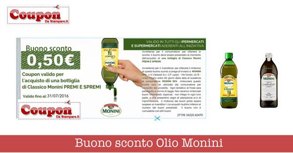 Buoni sconto Olio Monini