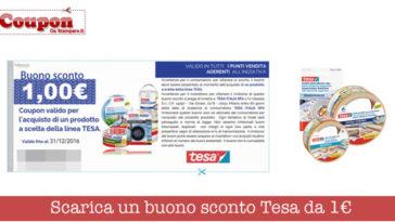 Buono sconto prodotti Tesa
