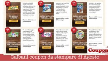 Galbani coupon da stampare di Agosto