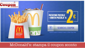 McDonald's: stampa il coupon sconto merenda a 2€