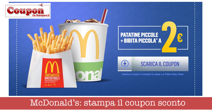 Mcdonalds coupons italien