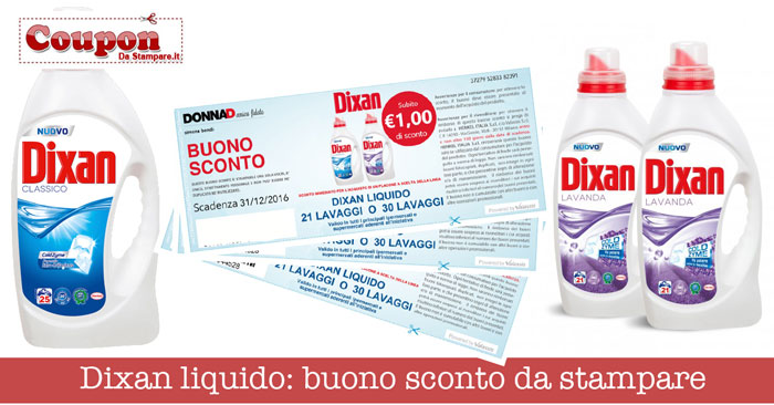 Detersivi coupon da stampare e buoni sconto - Detersivi you ...