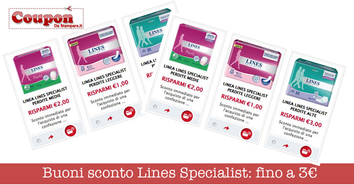 Buoni sconto Lines Specialist
