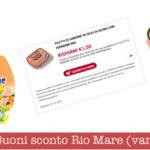 Buoni sconto Rio Mare da stampare (diverse tipologie)