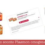 Buono sconto Plasmon omogeneizzati carne e frutta