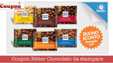 Coupon Ritter Cioccolato da stampare