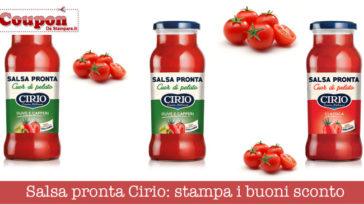 Buoni sconto Salsa pronta Cirio