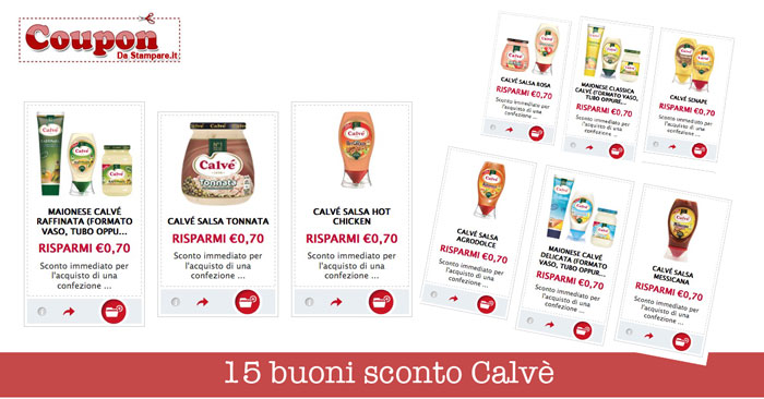 Coupon supermercati da stampare for Buoni coupon