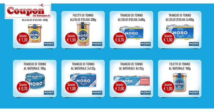 Coupon tonno Moro: stampa 8 buoni sconto per la spesa