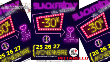 black friday pittarello 364x205 - Coupon sconto Pittarello Black Friday