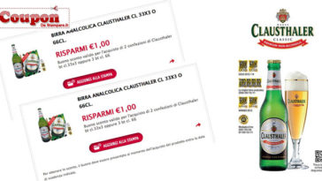 Coupon birra Clausthaler da stampare