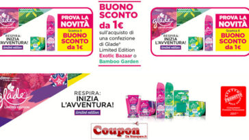 Coupon sconto Glade