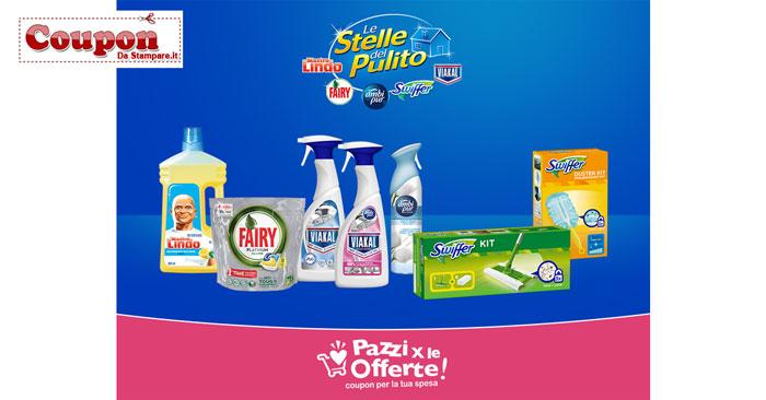 stelle del pulito coupon - Coupon digitali Mastro Lindo, Ambi Pur, Swiffer e Fairy: approfittane subito!
