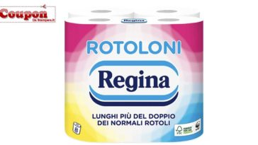 Rotoloni Regina: coupon carta igienica